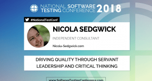 NIcola Sedgwick - National Software Testing Conference 2018