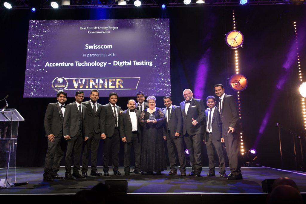 Best Overall Testing Project – Communication Swisscom in partnership with Accenture Technology