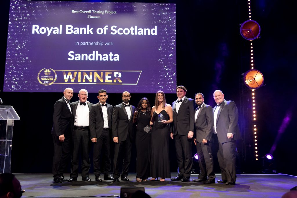 Best Overall Testing Project – Finance RBS & Sandhata