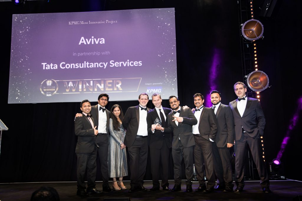 KPMG Most Innovative Project Aviva in partnership with Tata Consultancy Services