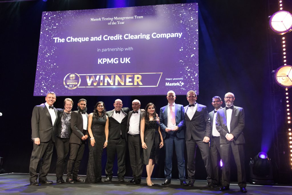 Mastek Testing Management Team of the Year The Cheque and Credit Clearing Company in partnership with KPMG UK