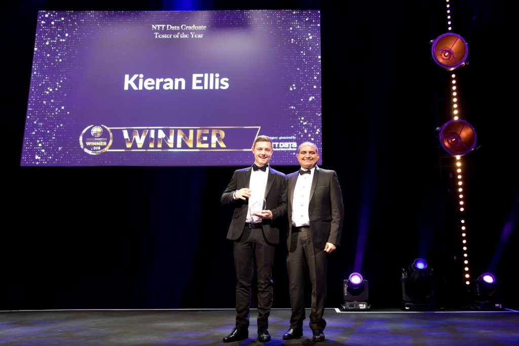 NTT Data Graduate Tester of the Year Kieran Ellis