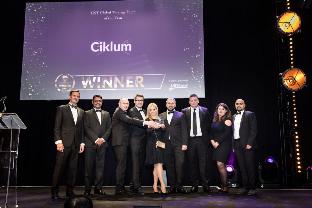 UST Global Testing Team of the Year Ciklum