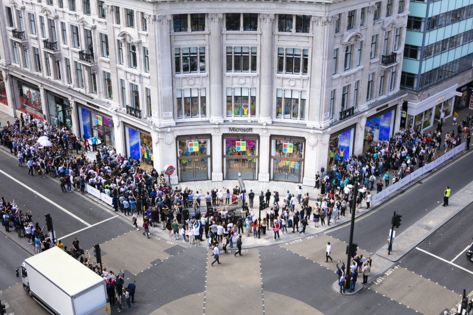 Microsoft's London flagship store opens to the public